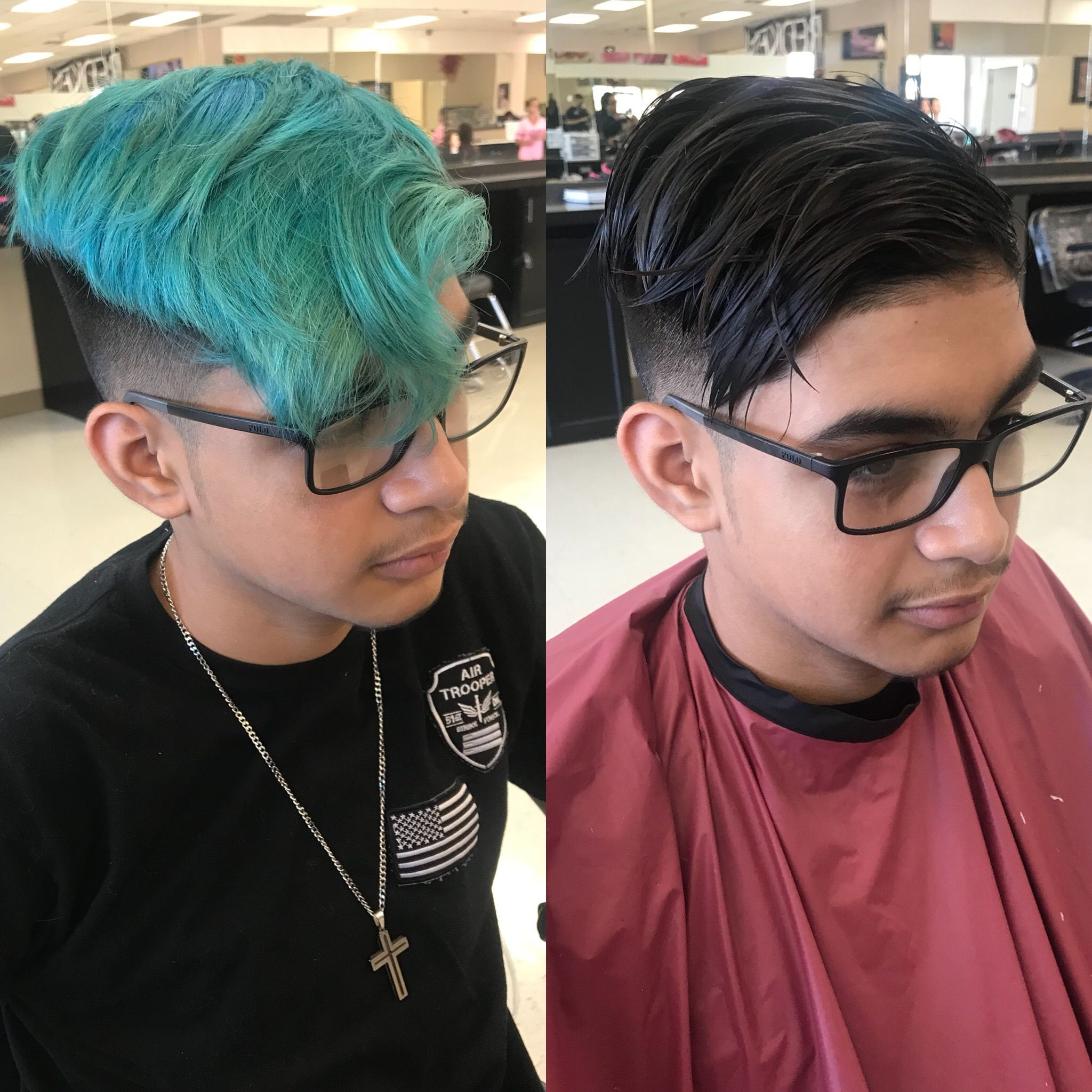 What A Fun Color Correction This Guy Came In With Blue