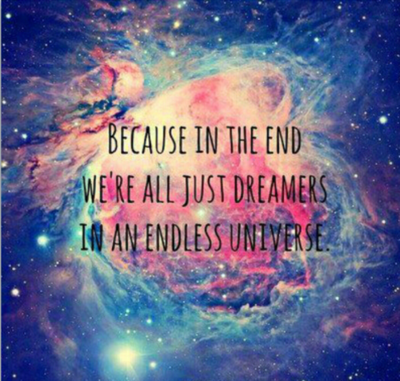 We all are dreamers....