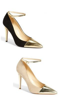 two tone pumps - i'll take a pair in each color, please! #katespade