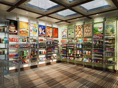 3d model grocery convenient store merchandise Grocery