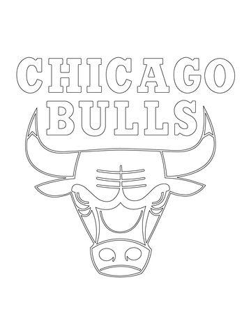 Cool Coloring Pages Nba Teams Logos Chicago Bulls Logo