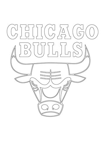 Chicago Bulls Logo Coloring Page Sports Coloring Pages Coloring