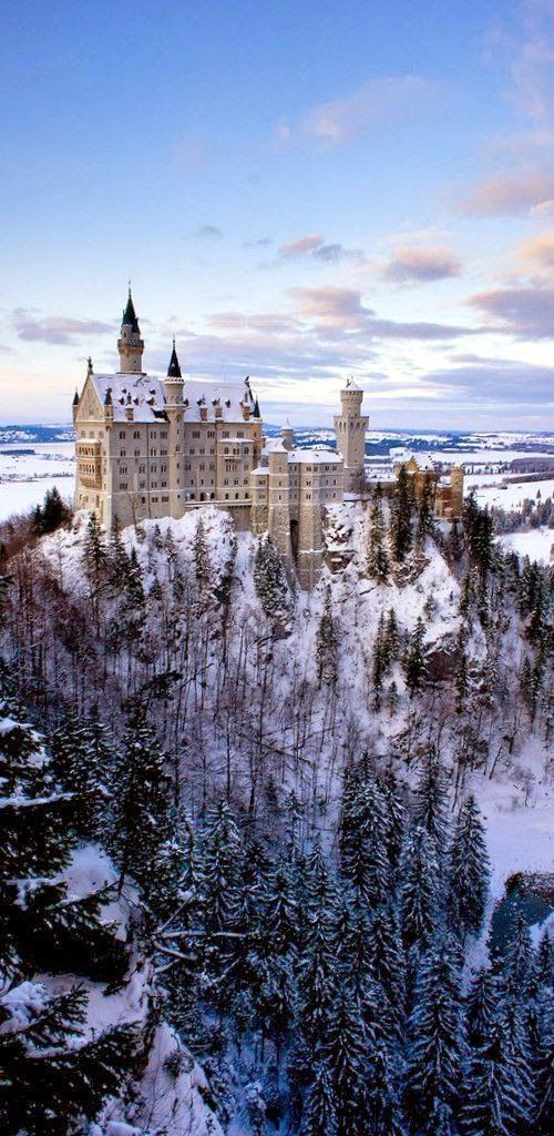 Travels Spot: Winter at Neuschwanstein Castle, Germany by Withered Bliss