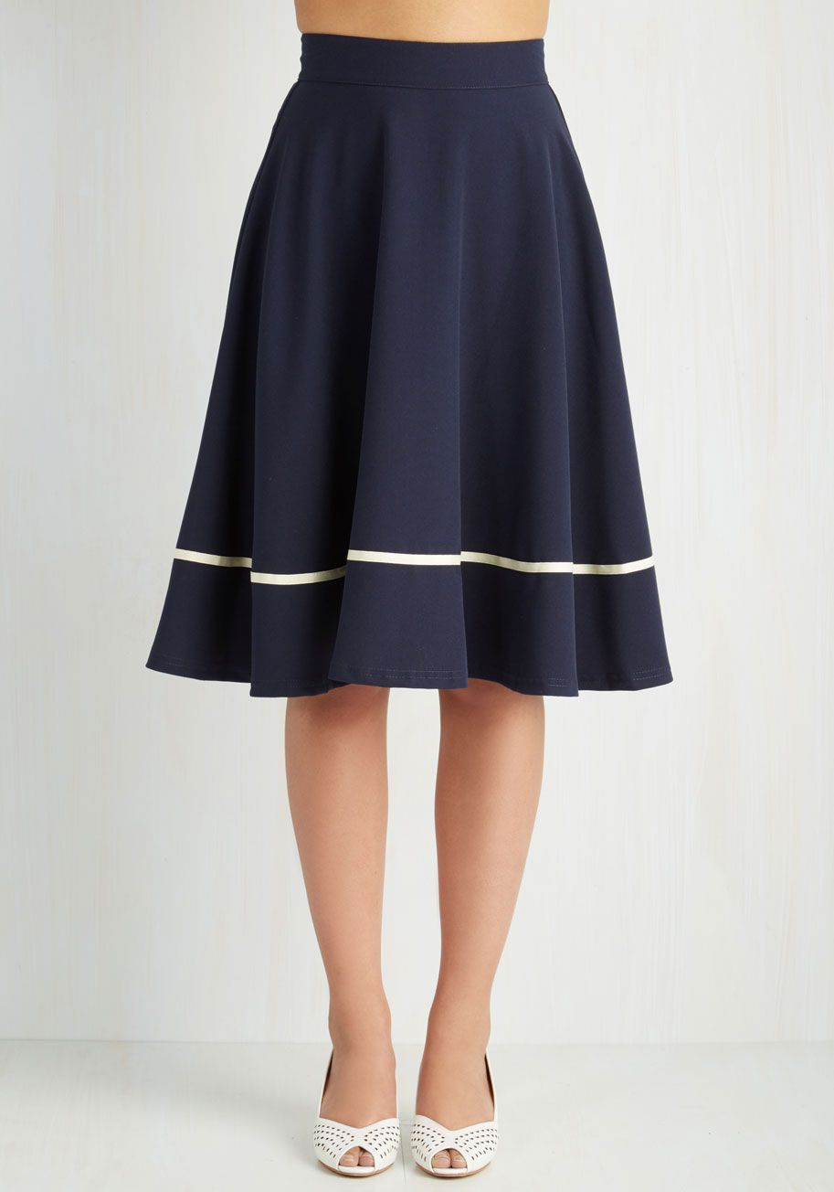 Work Day Darling Skirt in Ruby | ModCloth, Navy and Navy blue