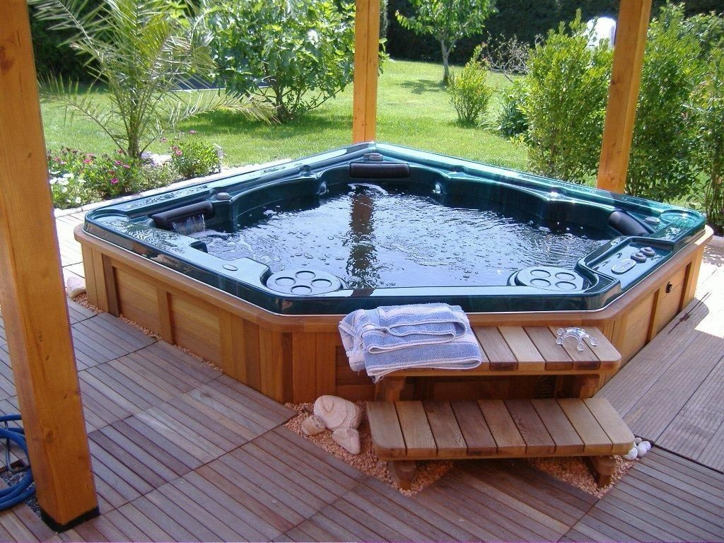 88 best Hot tub images on Pinterest | Hot tub deck, Patio ideas and ...