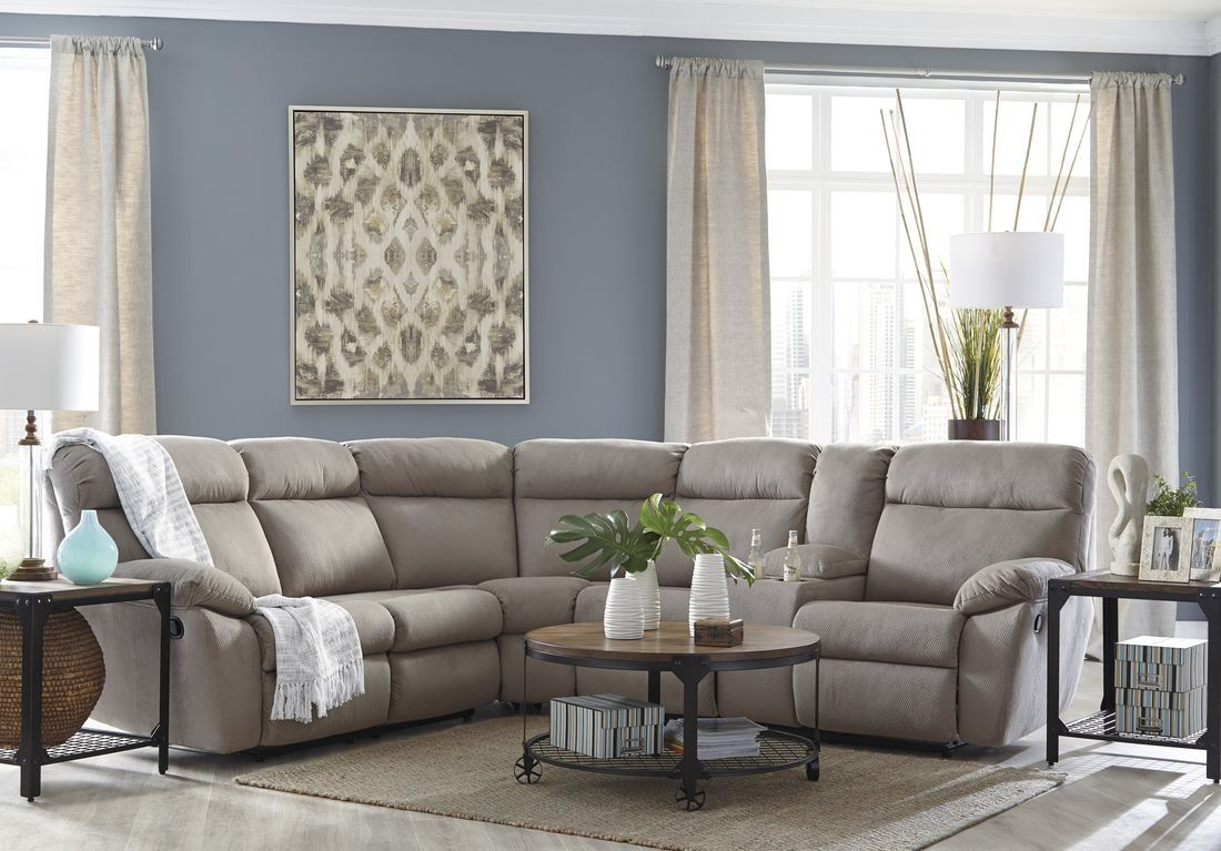 Ashley Furniture Demarion Sectional in Smoke Sectional