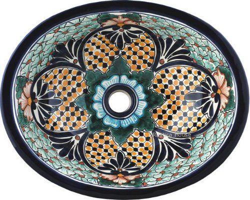 Mexican Tile | Mexican Bathroom Sinks | Bathroom, Rustic ...