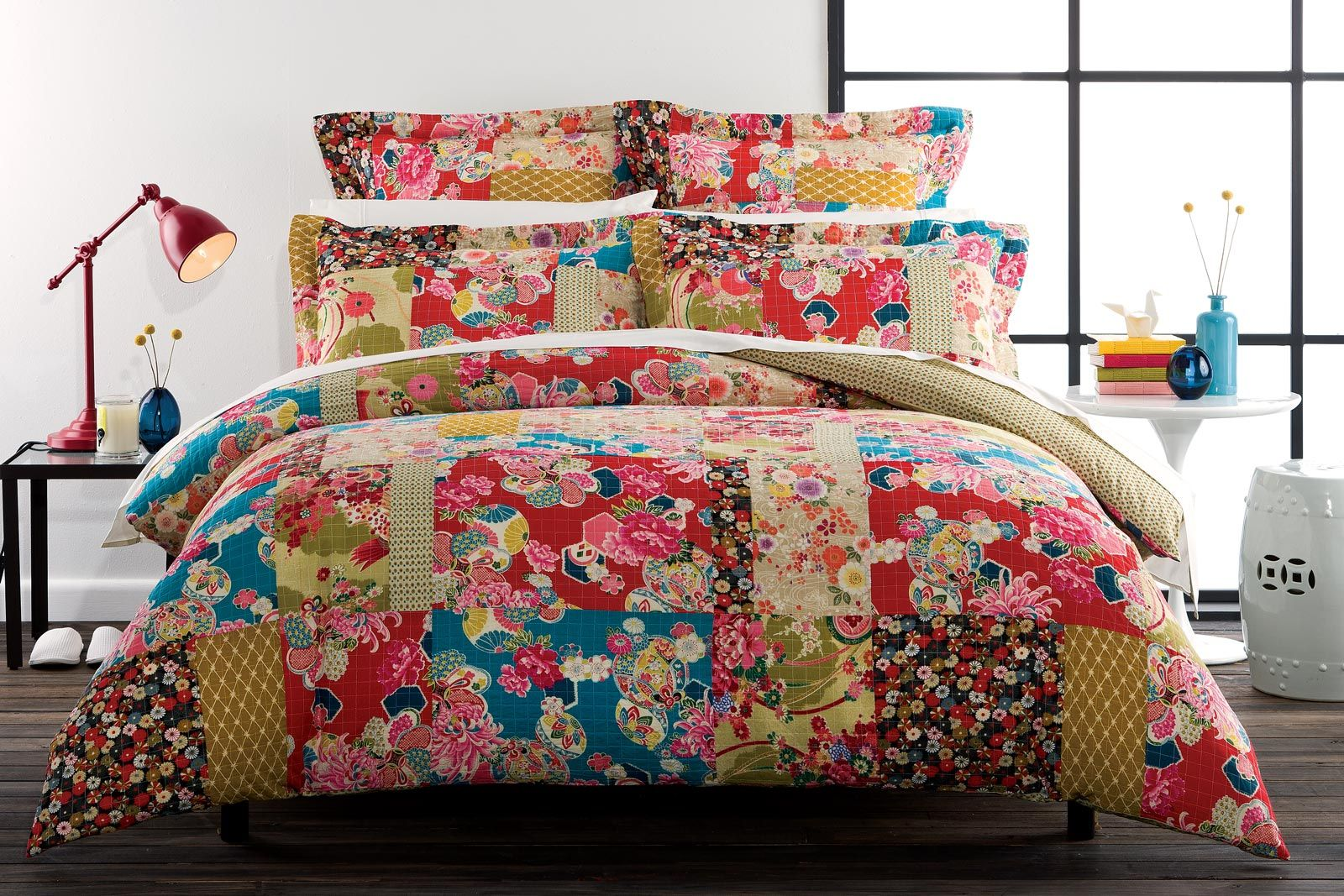 Bed sheets designs patchwork - Emiko Pretty Patchwork Look From Bed Bath N Table