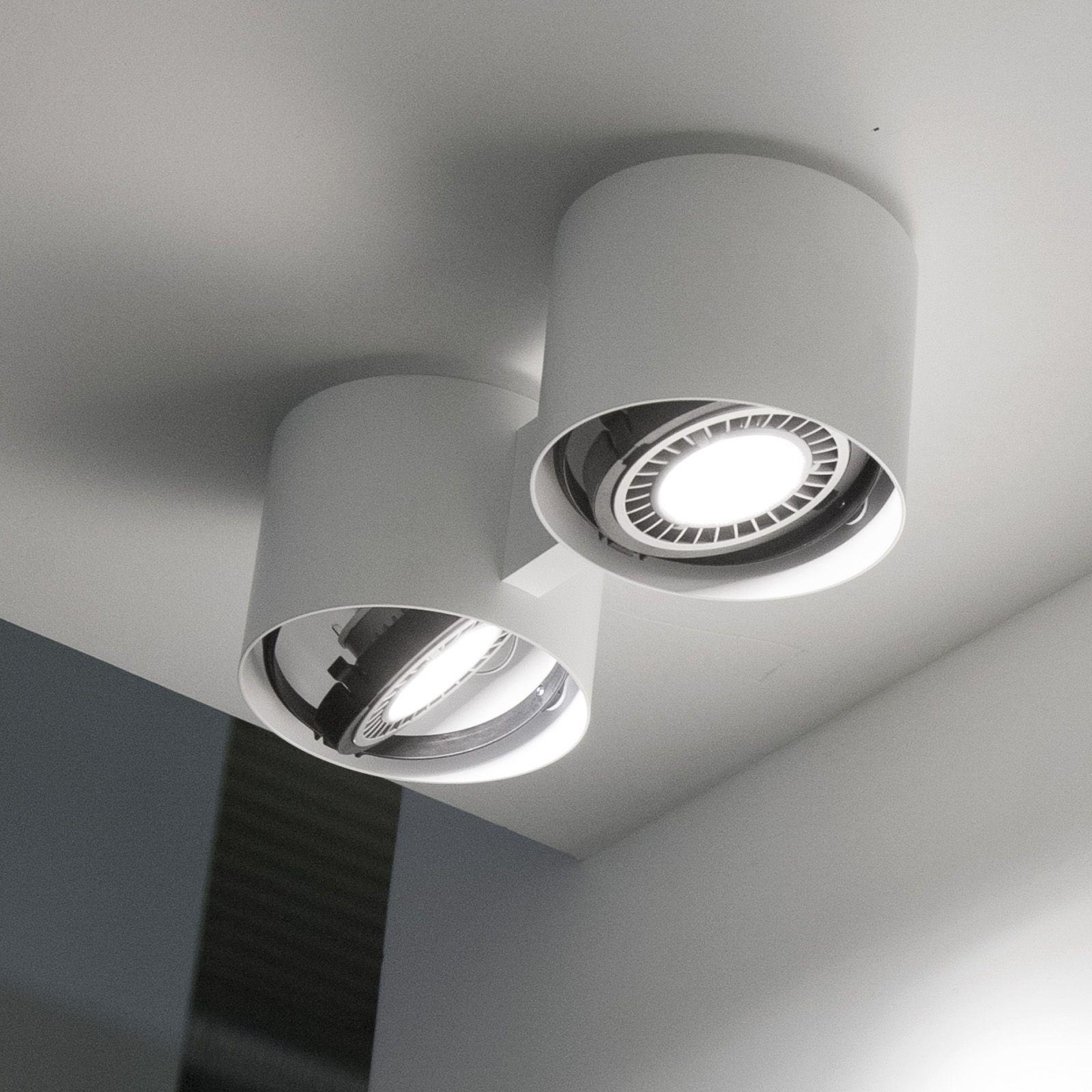 Apparecchio da soffitto, doppia luce diretta orientabile
