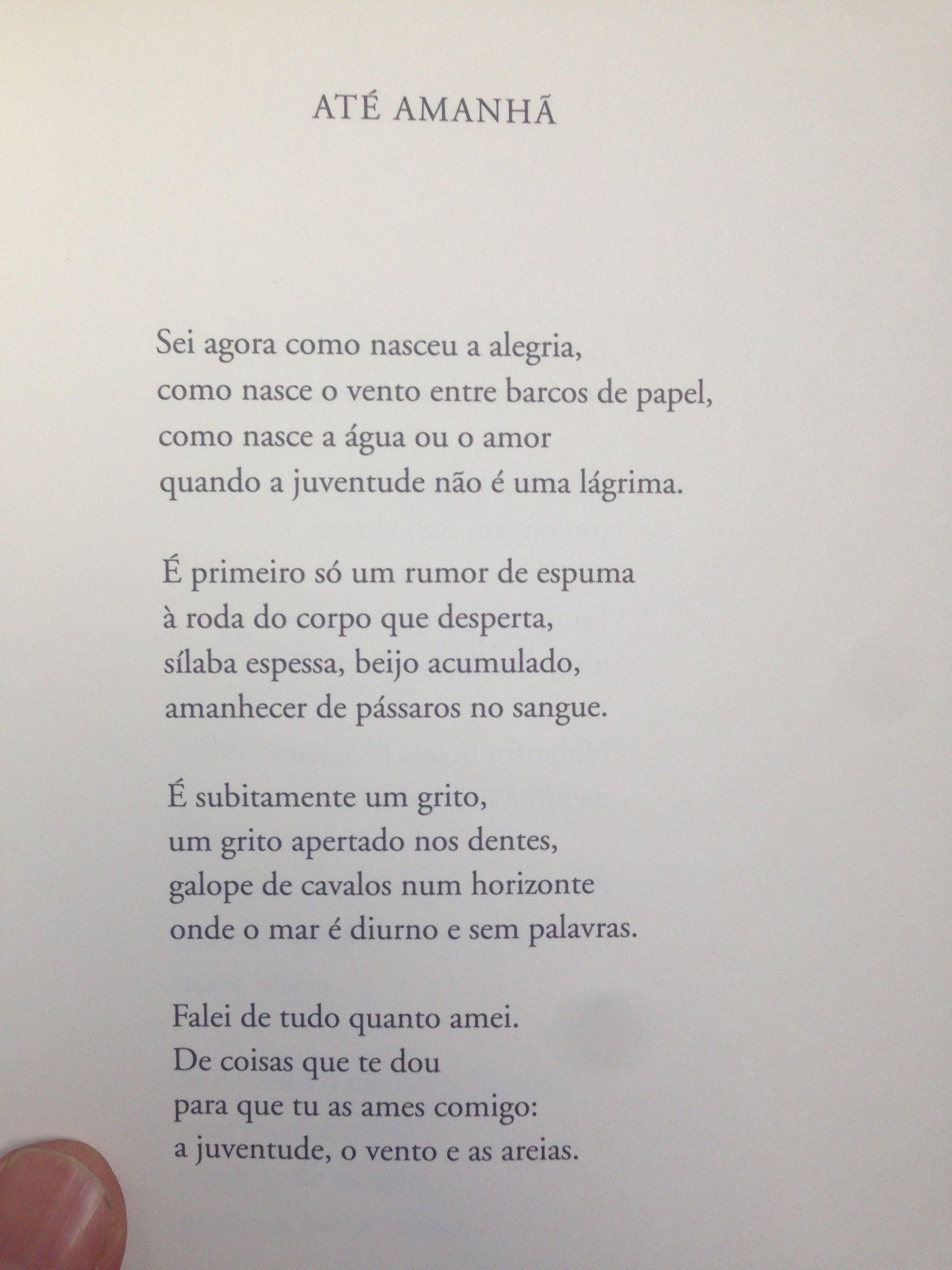 Até Amanhã, Até Amanhã, Eugénio de Andrade