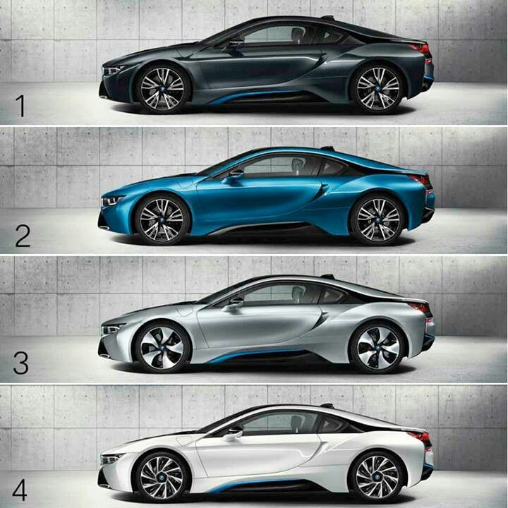 BMW i8 different colors