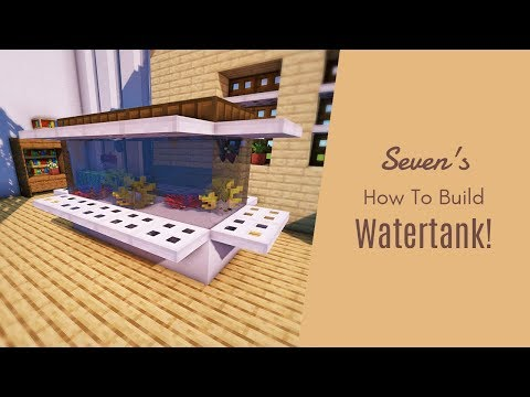 マインクラフト 実際に魚が泳げる水槽の作り方 家具建築 Youtube マイクラ 内装 マインクラフトの家 マインクラフトの家具