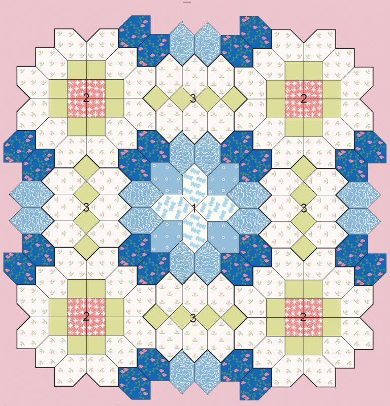 PLANTILLA DE EXAGONOS | patchwork | Pinterest | Plantas, Bloques y ...