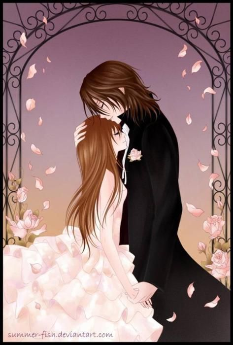 Girl And Boy Couple Anime Google Search Vampire Knight Kaname