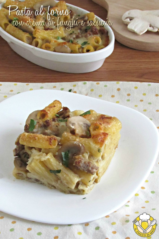 Pasta Al Forno Con Crema Di Funghi E Salsiccia Un Timballo Di Pasta