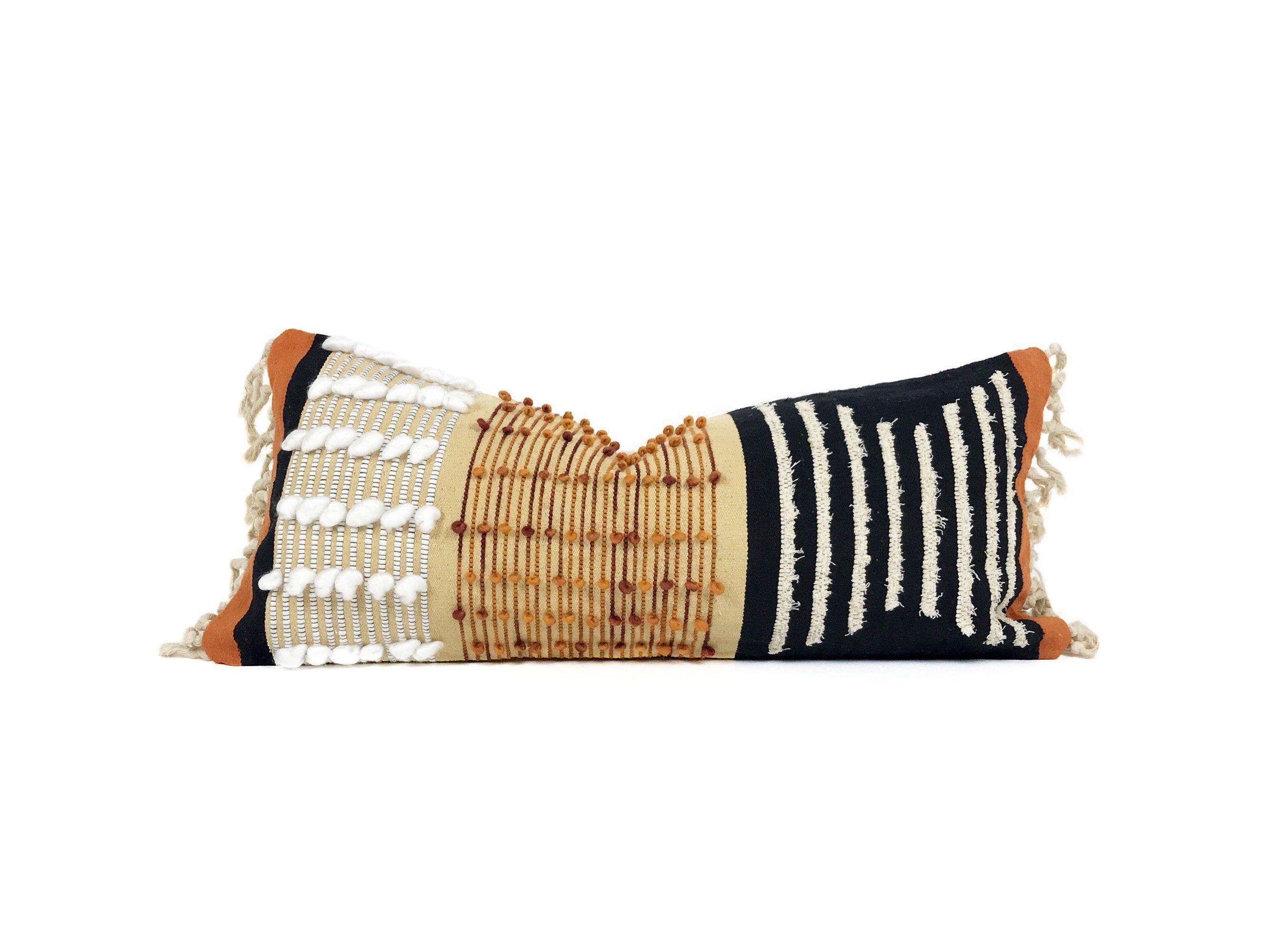 14x32 Mid Century Modern Pillow Cover Boho Lumbar Pillow ...