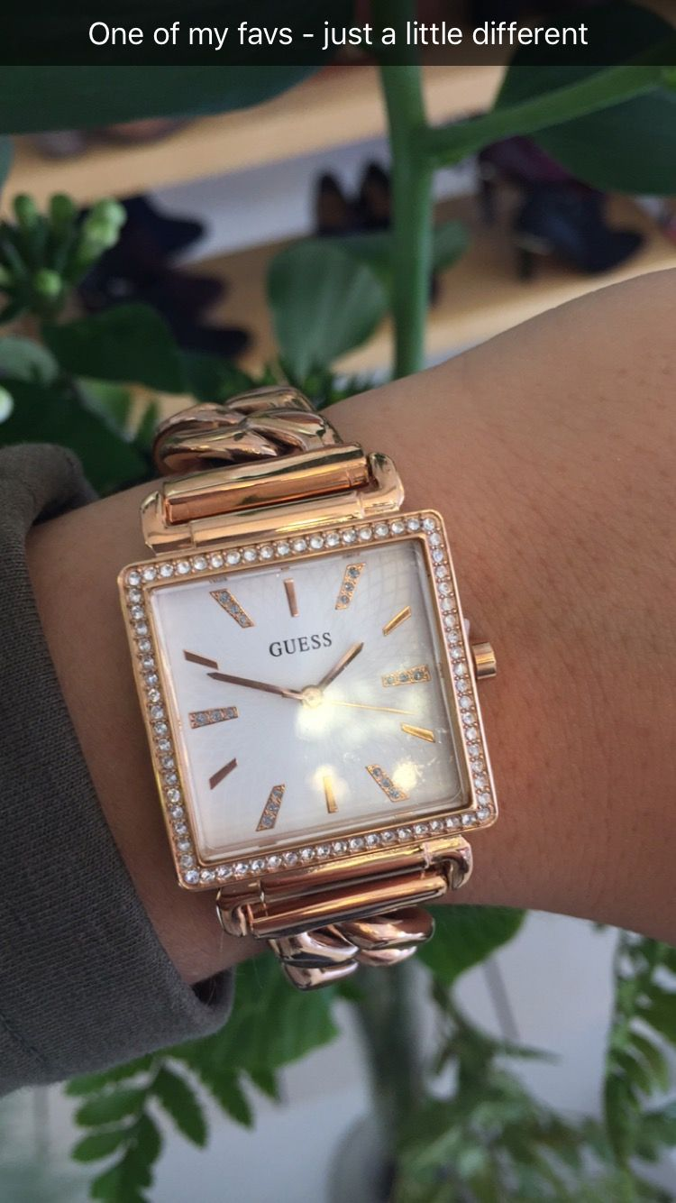 922a1fa4d9 Guess Vanity Chain Link Rose Gold Watch | Chunky Watch | Large Link |  Square Face | New Arrivals | Shop Now