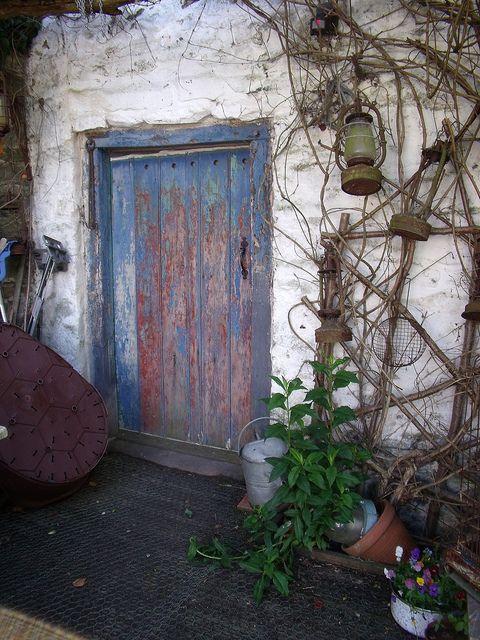 Garden door.    In The Thomas Shop,Penybont, Powys, Wales