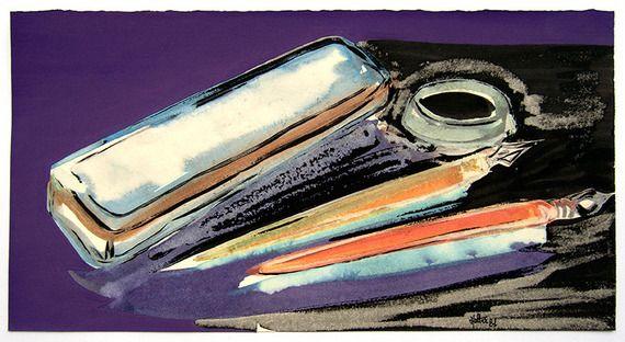 Contemporaryart Encre De Chine Sur Papier Aquarelle Papier