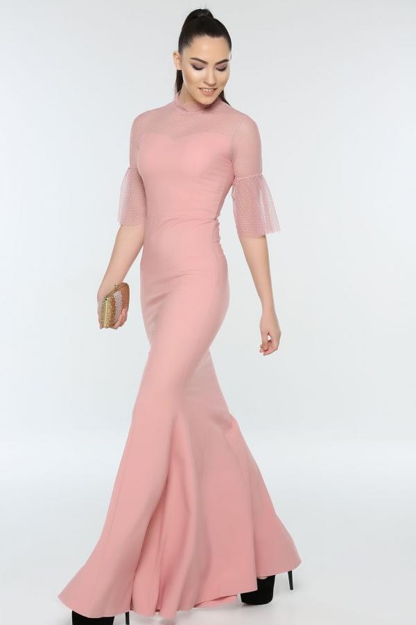 Balik Model Kisa Kol Pudra Abiye Elbise Kapida Odemeli Ucuz Bayan Giyim Online Alisveris Sitesi Modivera Com Elbise Elbiseler Giyim