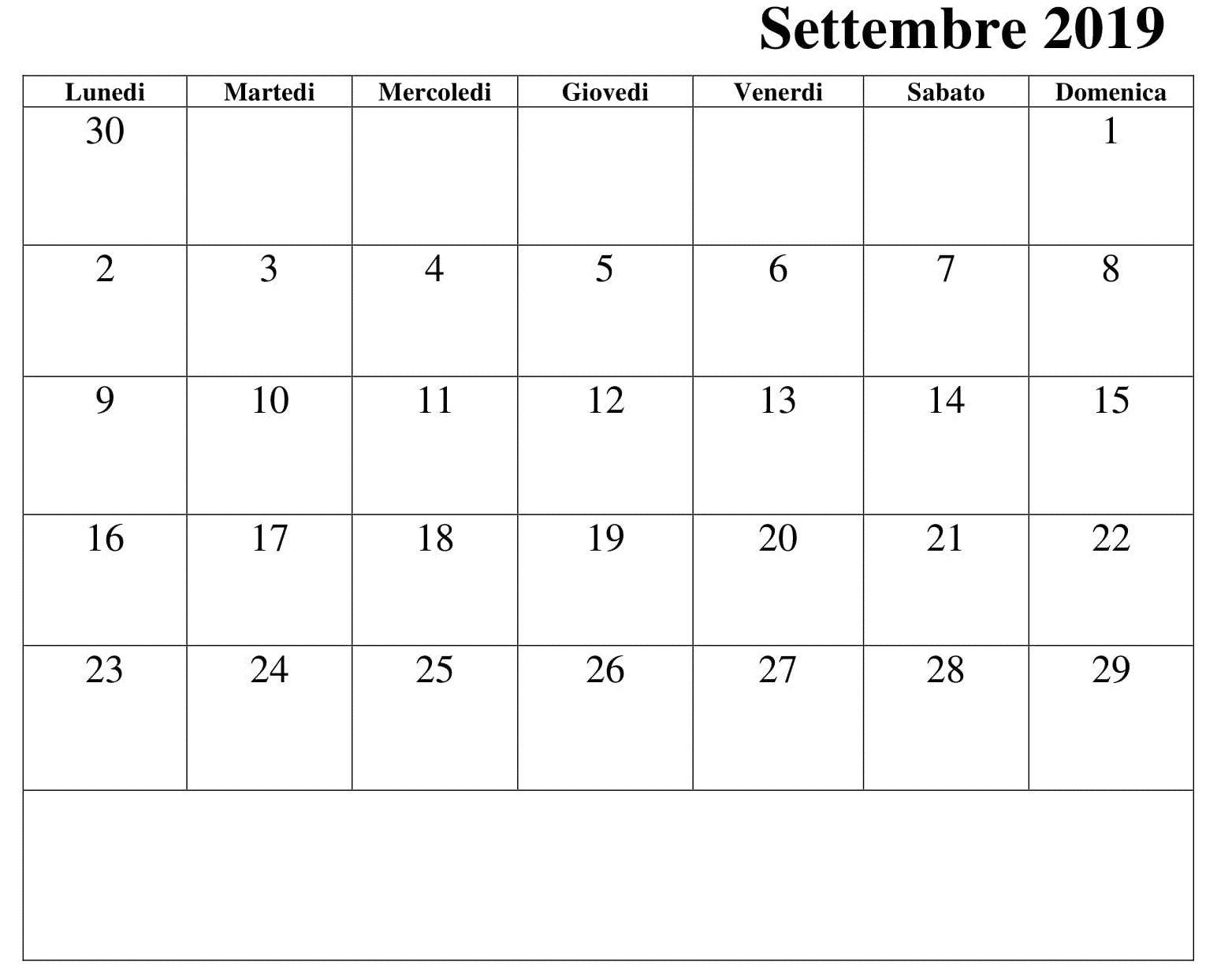 Calendario Design Settembre