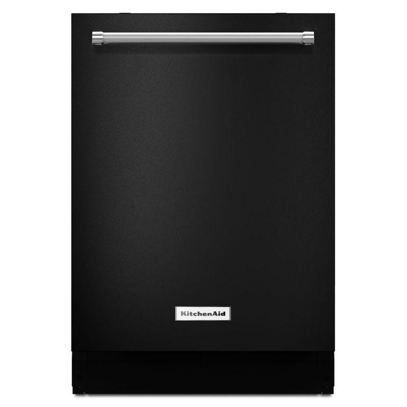 Kitchenaid kdte254e in black black dishwasher kitchen