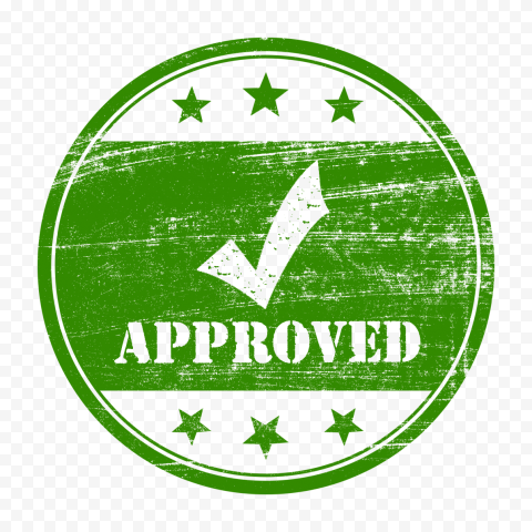 Green Round Approved Stamp With Check Icon Approved Stamp Stamp Icon