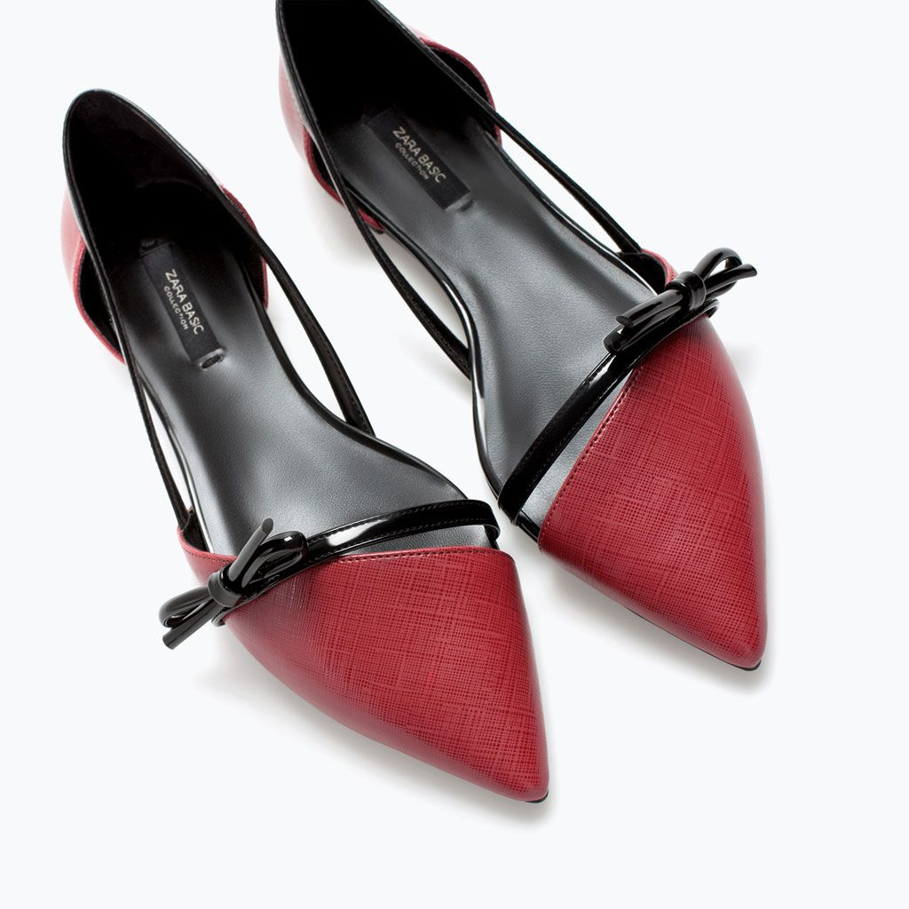 bbd1dda9fb FLAT SHOES WITH BOW from Zara | Shoe Addict | Scarpe, Scarpe basse ...