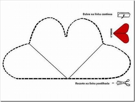 Modelo De Cartao Dia Das Mães Molde Coração Envelopes