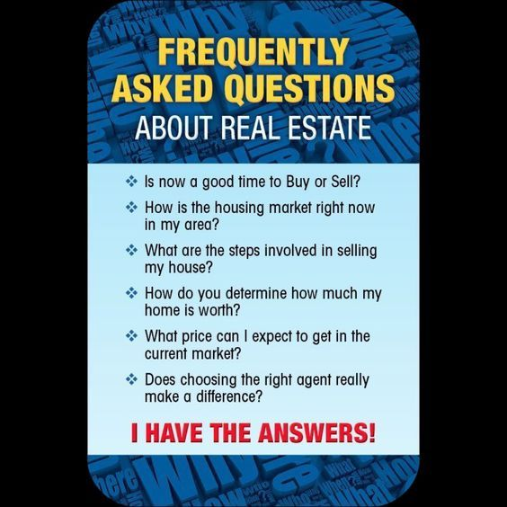 We Have Answers To All Your #RealEstate Questions
