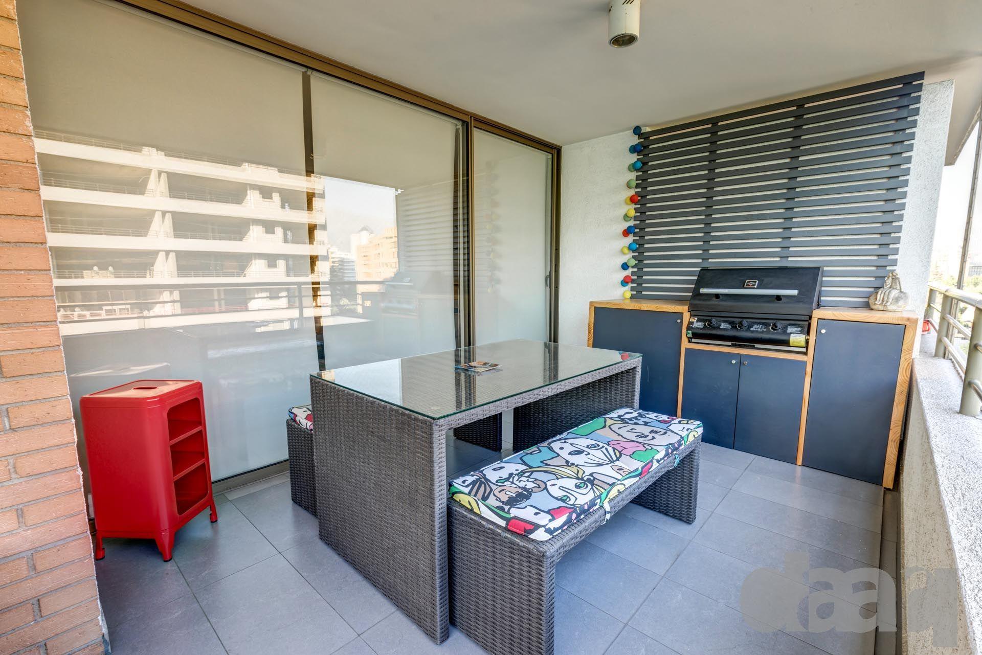 Quincho Terraza Departamento Las Nieves Arquitectura Muebles  # Muebles Oasis Caseros