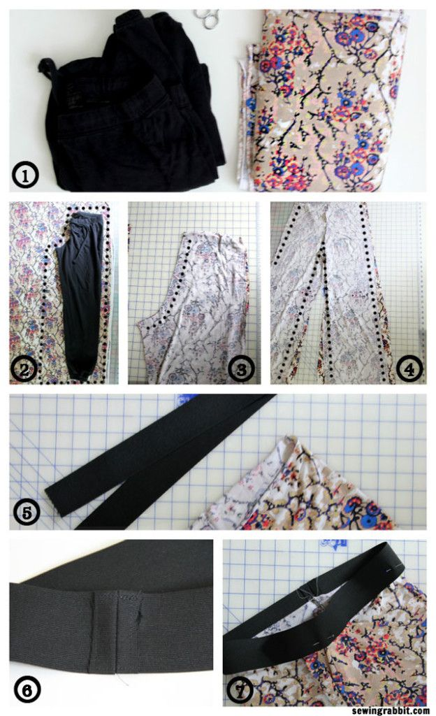 How to Sew an easy pair of knit pants DIY | Costuras | Pinterest ...