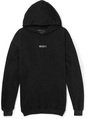 balenciaga hoodie mens black