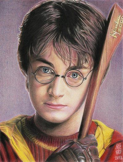 Harry Potter Daniel Radcliffe Colored Pencils In Opalina A4 Harry