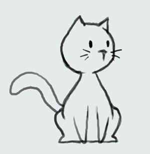 Pin Von Tina Liddie Auf Gatos Ilustracion Katze Cartoon Zeichnung Susse Katze Zeichnung Katze Zeichnen