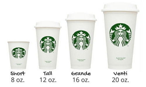 Starbucks cup sizes oz – Dishwashing service