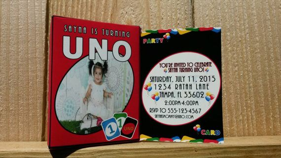 The best invites for a Uno Themed Party Send this uno card sized
