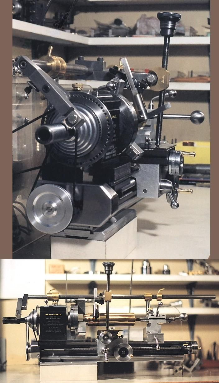Taig Lathe With A Unimat Type Of Threading Attachment
