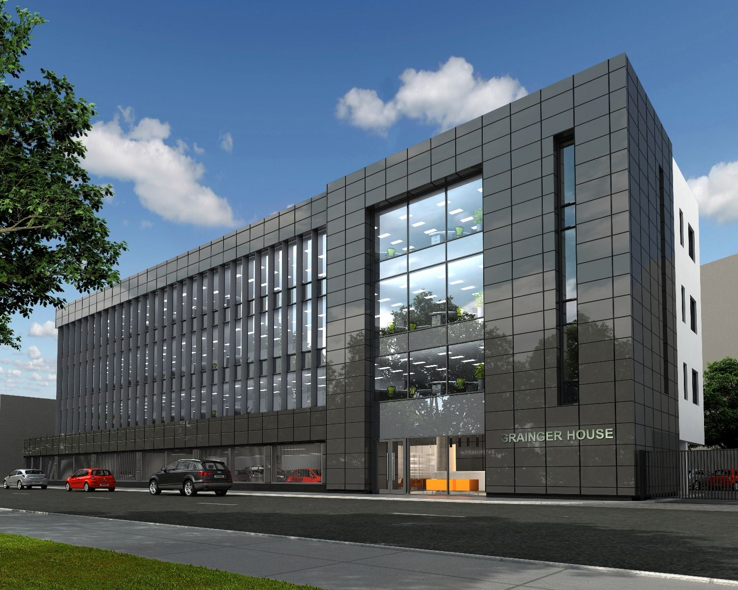 Superior Grainger House   A New Office Development On The River Dee Waterfront,  Aberdeen, Named