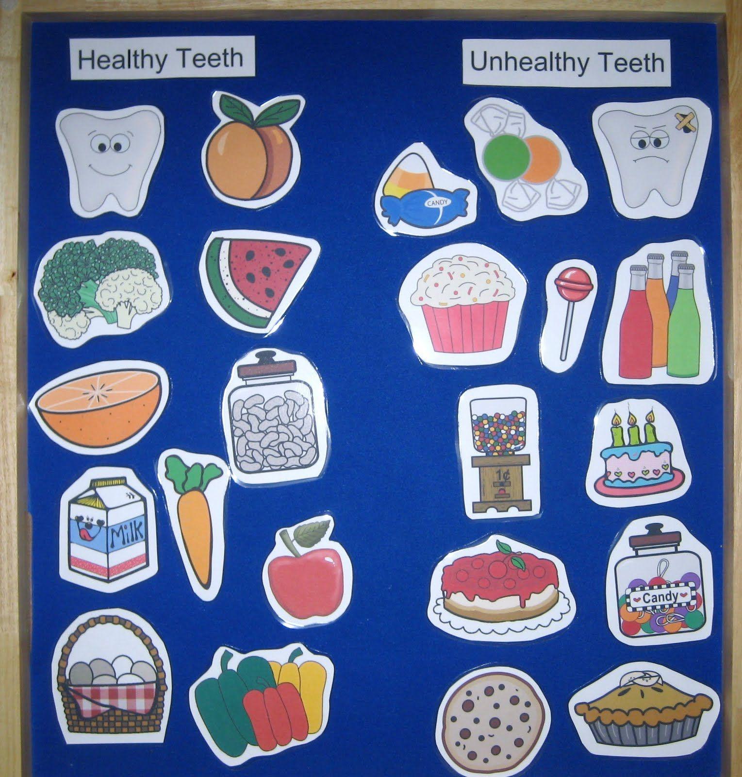 Dental Health  Felt Board with Clip Art