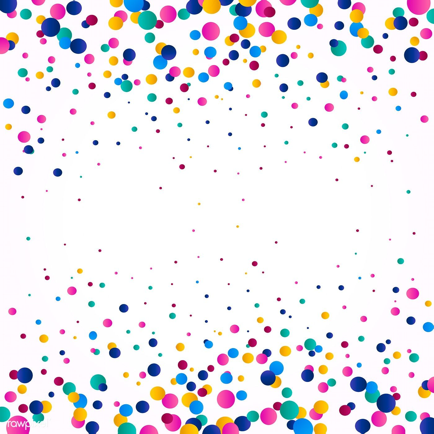 Colorful confetti background explosion vector free image
