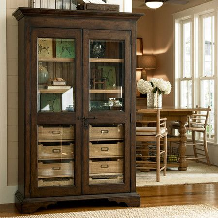 Connor Display Cabinet In Distressed Molasses