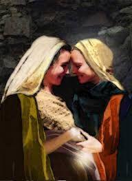 Sergio E. Valdez Sauad: TU ERES BENDITA ENTRE LAS MUJERES Lucas 1,39-45. Virgem Maria, Igreja, Mãe De Jesus, Arte De Cristã, Santa Maria, Mama Mary, Mary Elizabeth, Mãe Abençoada, Arte Religiosa