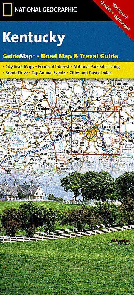 Buy Map Kentucky GuideMap By National Geographic Maps YellowMaps - National geographic travel map