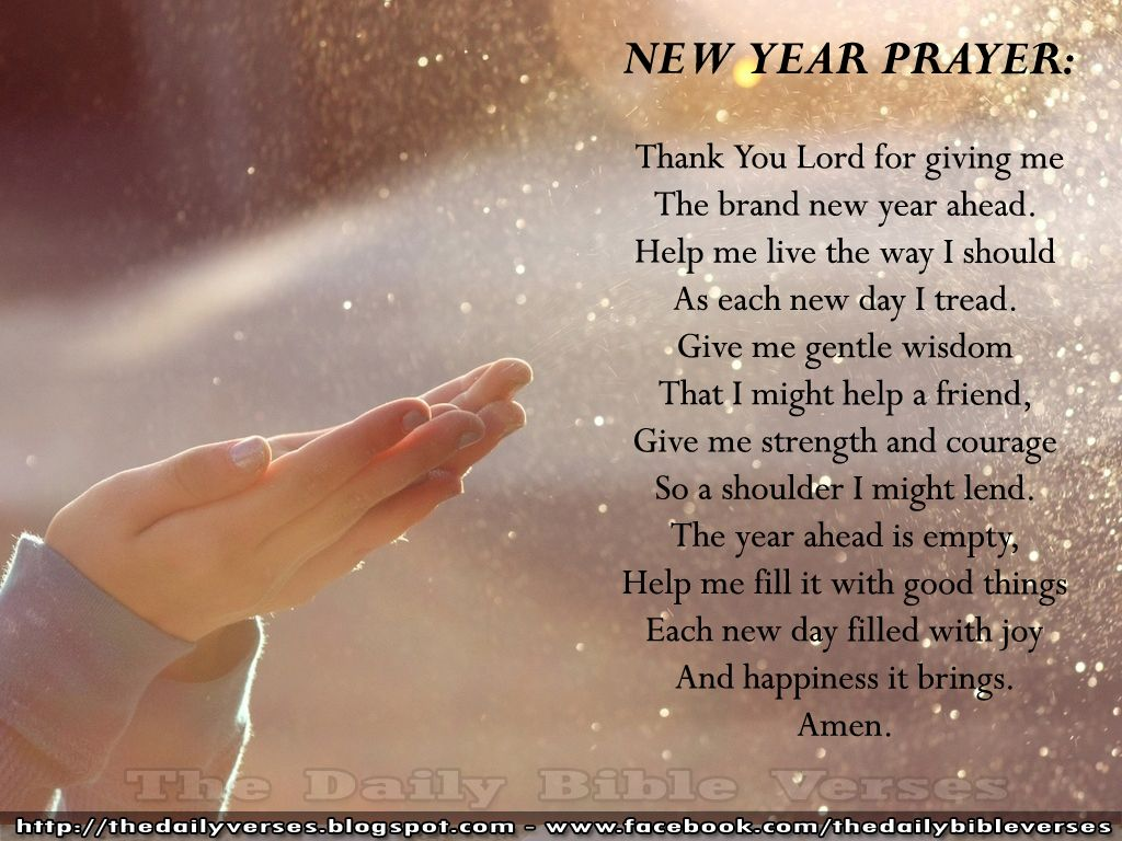 New Year Prayers | New Year\'s prayer... | devotionals | Verses of ...