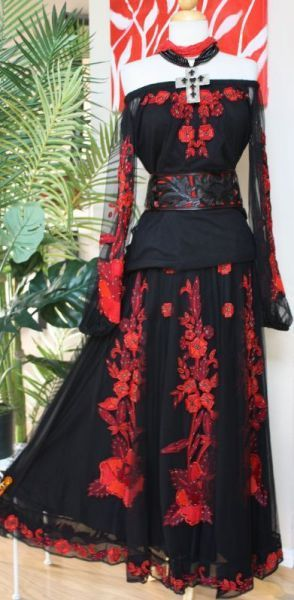"""Brands :: Vintage Collection :: VINTAGE COLLECTION RED """"STARRY NIGHT"""" OUTFIT! - Native American Jewelry