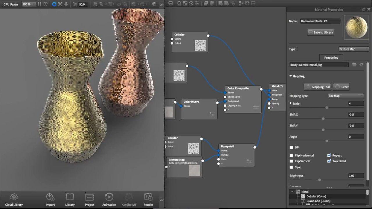 KeyShot Material Study: Hammered Metal | Blender 3D in 2019