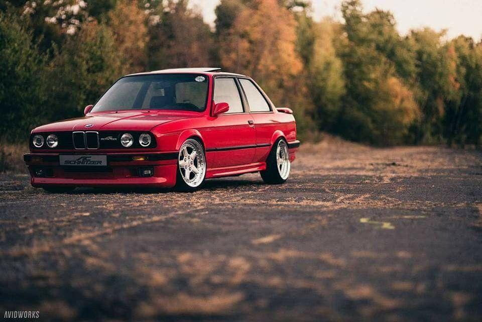 BMW E30 3 series red AC Schnitzer   Bmw, Bmw e30, Bmw car