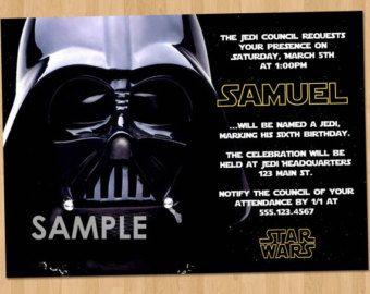 Star Wars Birthday Invitation Printable Boy Or By Partyprintouts