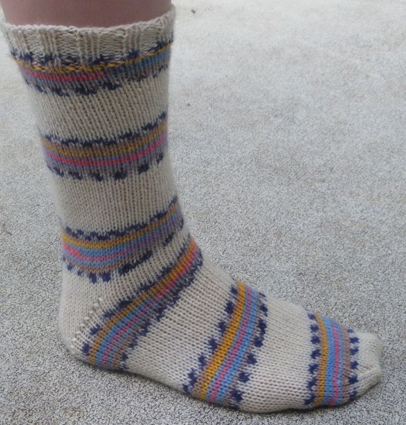 Easy Sock Knitting Pattern Free : Easy two needle socks audrey s knits diy pinterest